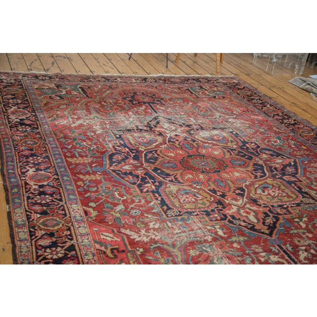 "Distressed Ahar Heriz Carpet - 8'2"" X 11'9"" - Image 3 of 10"