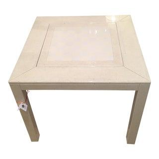 Karl Springer White Lacquer Game Table