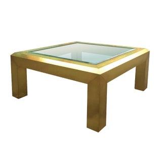 Hekman Brass & Glass Coffee Table