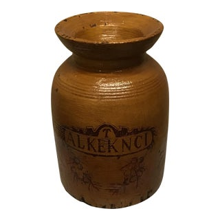 French Wooden Apothecary Jar