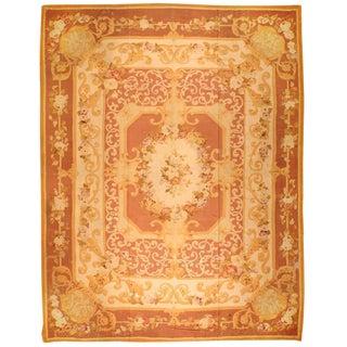 Antique Oversize 19th Century French Aubusson Carpet