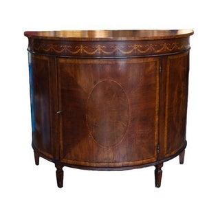 Ornate Inlay Demilune Cabinet