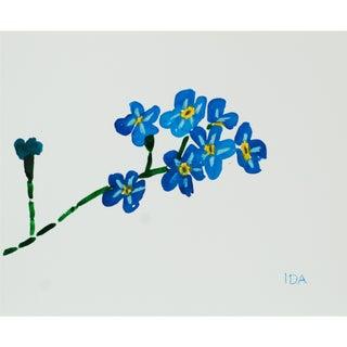 Blue Flower Spray Multimedia
