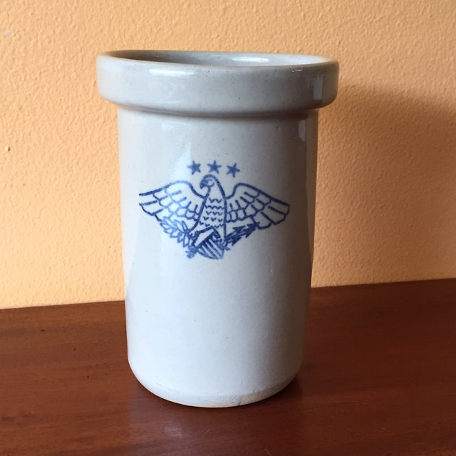 Vintage American Eagle Salt Glaze Crock - Image 3 of 9