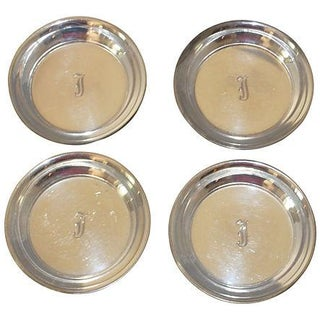 Sterling Silver Coasters - Set of 4