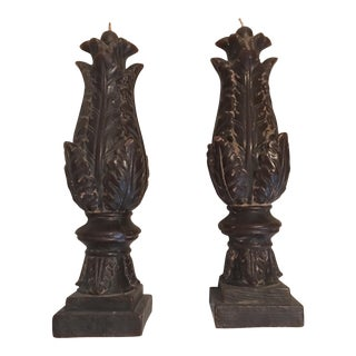 Acanthus Leaf Candles- Set of 2