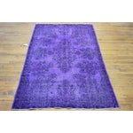 Image of Anatolian Over-Dyed Purple Rug - 5′8″ × 9′