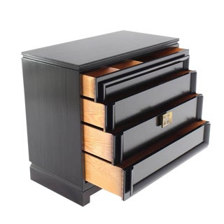 Black Lacquer Four-Drawer Bachelor Chest