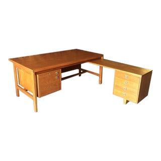 Danish Modern Refinished Teak Executive Desk
