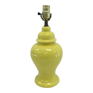 Vintage Yellow Ginger Jar Lamp