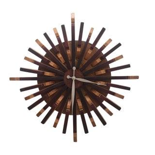 Reclaimed Wine Barrel Art Wall Clock