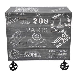 Paris Theme Chest of Drawers