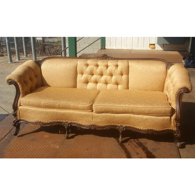 Brocade Sofa Outstanding Art Deco Sofa Original Sculpted