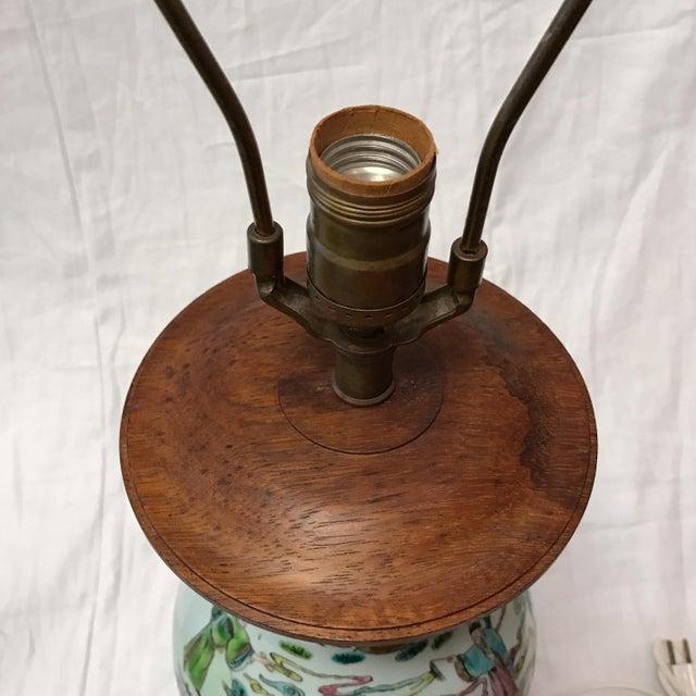 Antique Japanese Porcelain & Wood Lamp - Image 5 of 11