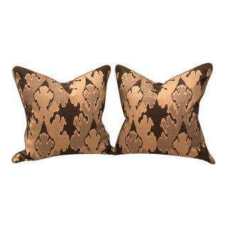 Kelly Wearstler for Groundworks Ikat Pillows - a Pair