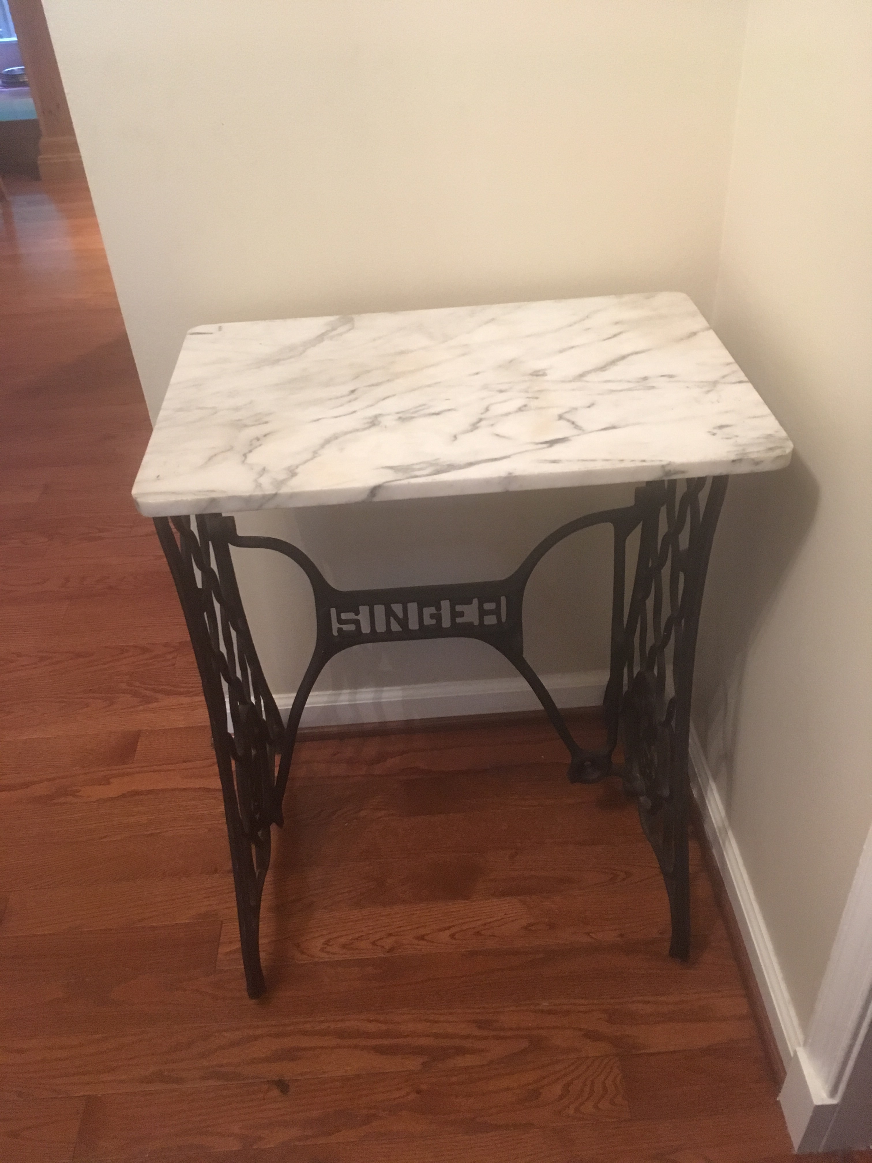 Marble Top Singer Sewing Machine Table   Image 2 Of 5