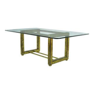 Mastercraft Bernhard Rohne Acid-Etched Brass Table