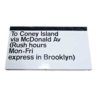 Massimo Vignelli New York Subway Sign for Unimark (C. 1968)