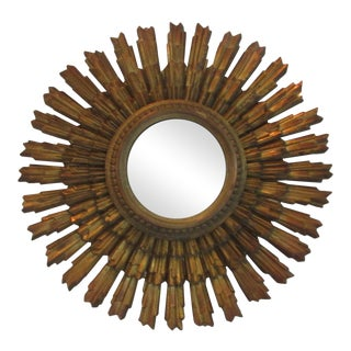 Vintage Syroco Starburst Mirror