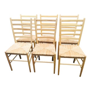 Gio Ponti Style Ladderback Chairs - Set of 6