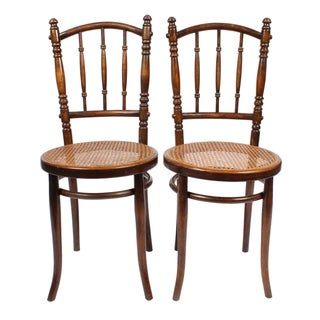 Antique Cane Ballroom Chairs - A Pair
