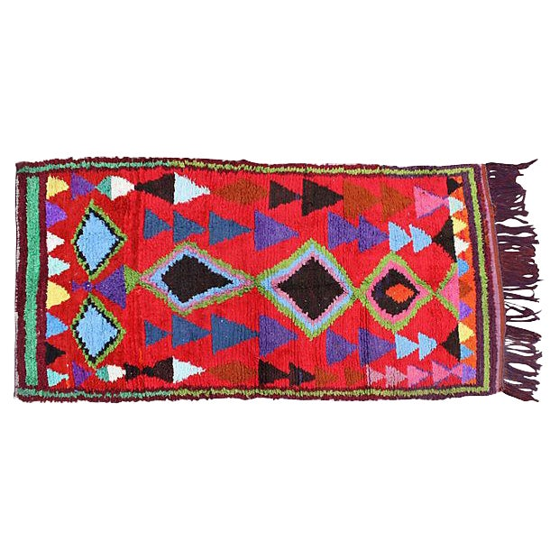 Vintage Moroccan Rug - 7'6'' x 3'8'' - Image 1 of 2