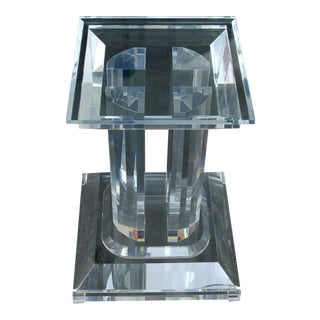 Gorgeous Jeffrey Bigelow Signed Lucite Dining Room Table Base