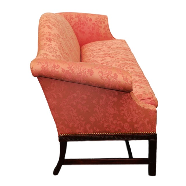 Hickory Chair Mahogany Chippendale Camelback Sofa Chairish