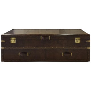 Rectangular Leather Storage Bed Chest