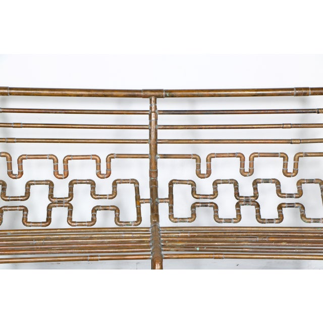 Modern Copper Pipe Bench - Image 9 of 11