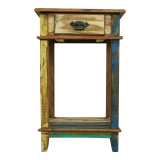 Reclaimed Solid Wood Side Table/Nightstand