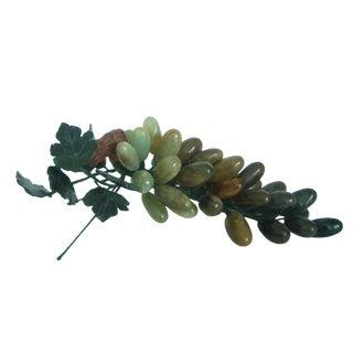 Polished Onyx Grapes on the Vine