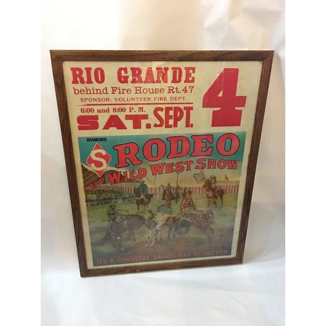 Original Rio Grande Rodeo Wild West Poster - Image 2 of 7