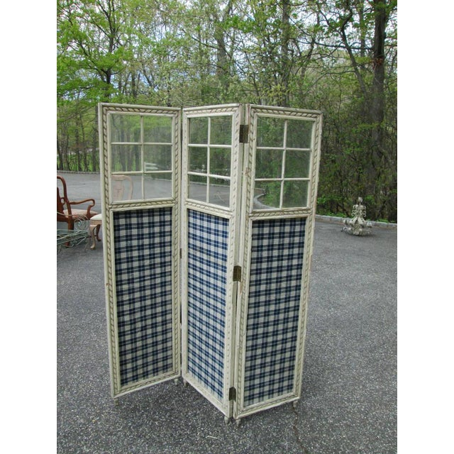 Image of Farmhouse 3 Panel Screen Room Divider