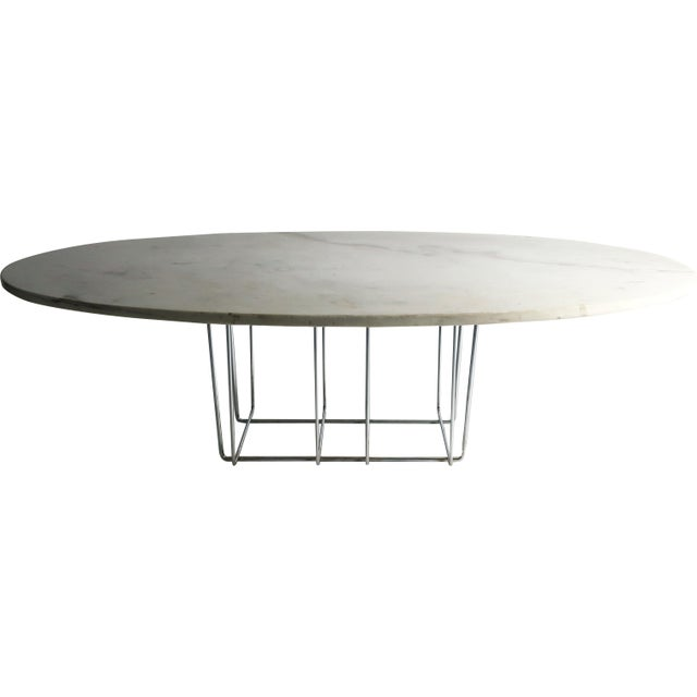 Marble & Chrome Coffee Table - Image 9 of 9