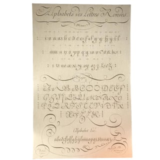 Alphabet Calligraphy Print on Linen