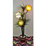 Image of Mid Century Spaghetti Spun Lucite Palm Tree Lamp