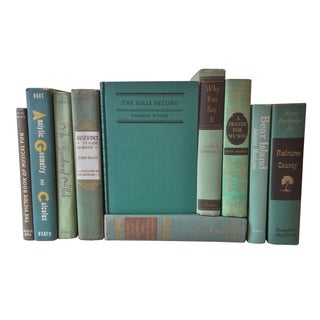 Green Distressed Books - Set of 10