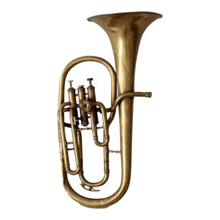 Vintage Brass Baritone Horn