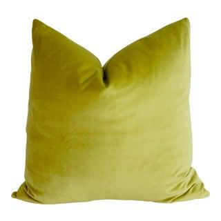 Custom Chartreuse Velvet Pillow