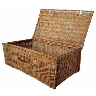 Vintage French Picnic Basket