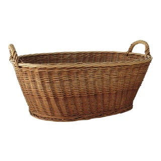 Vintage French Country Laundry Basket