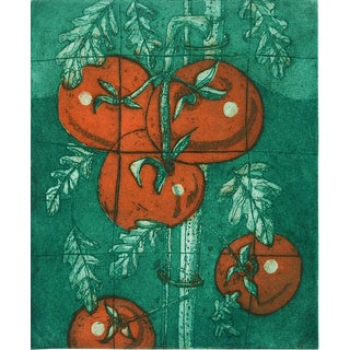 """On the Vine #2"" Tomato Plant Etching"