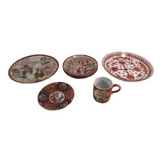 Asian Imari Bowls & Dishes - Set of 7
