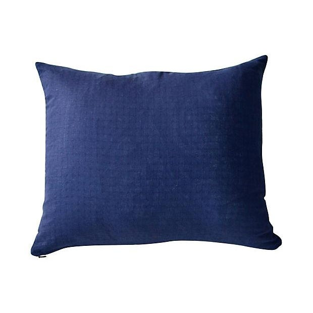 Indigo African Tie Dye Pillow - Image 3 of 3