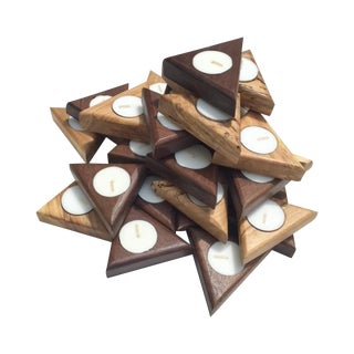 Triangle Tea Light Holders - A Pair
