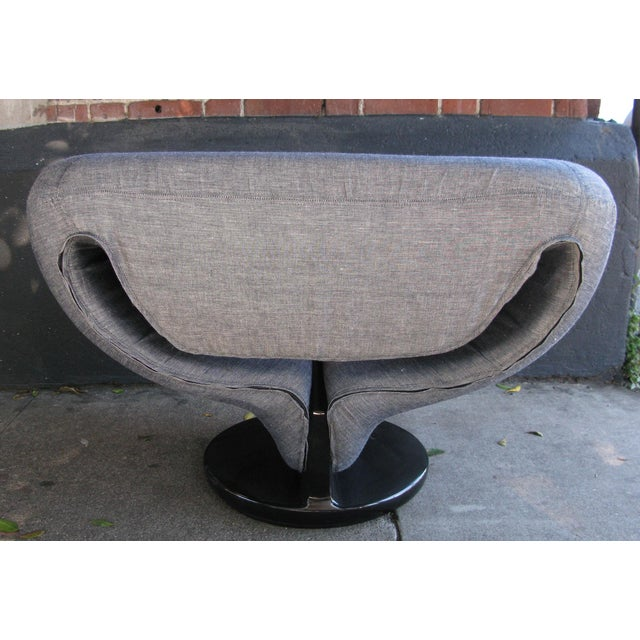 Pierre Paulin Style Ribbon Chair in Light Denim - Image 5 of 7