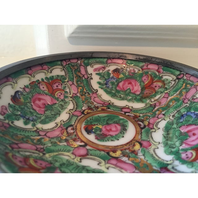 Hand Painted Ceramic & Pewter Dish - Image 10 of 10