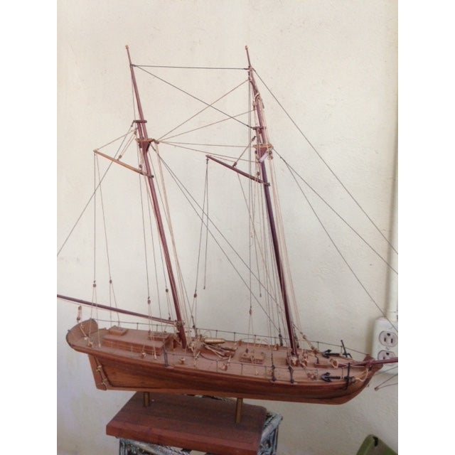 Wood Model Boat - Image 10 of 10