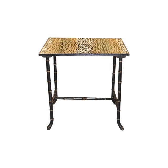 Image of Vintage Rattan Side Table